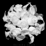 BW Calla Lily Rose Bouquet